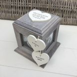 Shabby Chic PERSONALISED Rustic Wood In Memory Of Husband Photo Cube ANY NAMES - 253967167363
